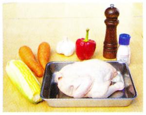 ローストチキンの材料 ダッチオーブンレシピ