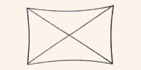テントの基本構造 X型(クロスフレーム型)