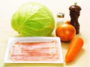 キャベツのまるごと煮の材料 ダッチオーブンレシピ