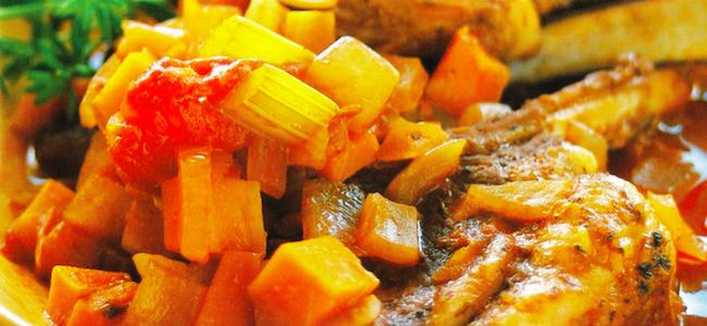 ダッチオーブンレシピ ラムのトマト煮