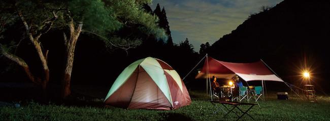 テントの張り方 水はけの良い場所