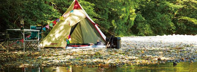 テントの張り方 水辺は要注意