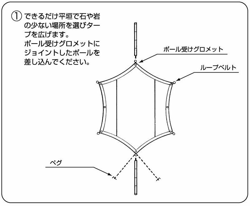 タープの張り方 1