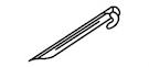 オルディナスクエアタープ M-3172 プラスチックペグ