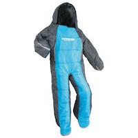 キャプテンスタッグ寝袋(シュラフ)UB-12 洗える人型シュラフ(寝袋)140ジュニア(ブルーxグレー)