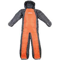 キャプテンスタッグ寝袋(シュラフ)UB-9 洗える人型シュラフ(寝袋)(オレンジxグレー)
