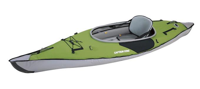 キャプテンスタッグのおすすめインフレータブルカヤック MC-1427 エアフレームスポーツカヤック グリーン