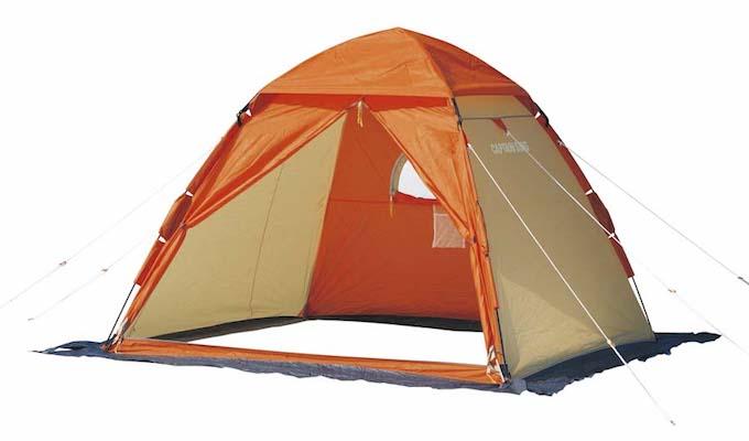 M-3131 ワカサギ釣りワンタッチテント210(コンパクト)オレンジ