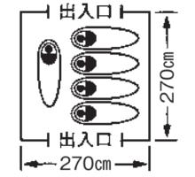 使用人数・床面積 M-3102 プレーナドームテント(5~6人用)(キャリーバッグ付)