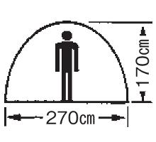 天井高 M-3102 プレーナドームテント(5~6人用)(キャリーバッグ付)