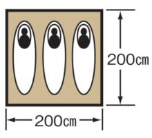 使用人数・床面積 M-3105 クレセント3人用ドームテント