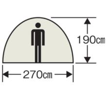 天井高 M-3117 オルディナスクリーンツールームドームテント(5~6人用)(キャリーバッグ付)