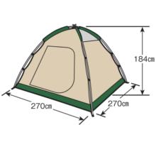 フレームサイズ M-3132 CS ドームテント270UV(5~6人用)(キャリーバッグ付)