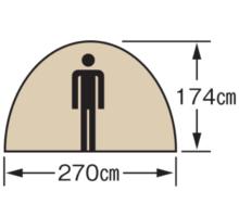 天井高 M-3132 CS ドームテント270UV(5~6人用)(キャリーバッグ付)