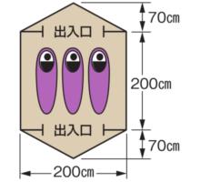 使用人数・床面積 M-3136 CS クイックドーム200UV(キャリーバッグ付)