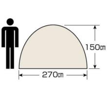 天井高 UA-18 エクスギア ツールームドーム270 4~5人用