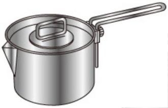 M-5504 ラグナ ステンレスクッカーLセット 片手鍋