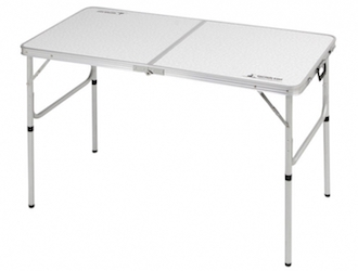 UC-510 ラフォーレアルミツーウェイテーブル(アジャスター付)(M)120×60cm High