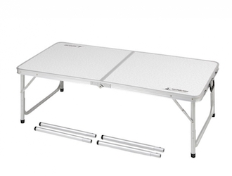UC-510 ラフォーレアルミツーウェイテーブル(アジャスター付)(M)120×60cm Low