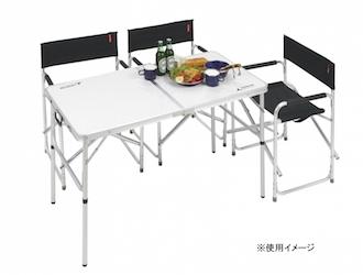 UC-510 ラフォーレアルミツーウェイテーブル(アジャスター付)(M)120×60cm セットイメージ