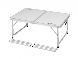 UC-511 ラフォーレアルミツーウェイテーブル(アジャスター付)(S)90×60cm Low