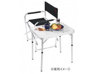 UC-513 ラフォーレアルミツーウェイサイドテーブル(アジャスター付)60×45cm セットイメージ