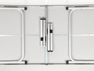 UC-516 ジャストサイズ ラウンジチェアで食事がしやすいテーブル 4~6人用(M)120×60cm 収納
