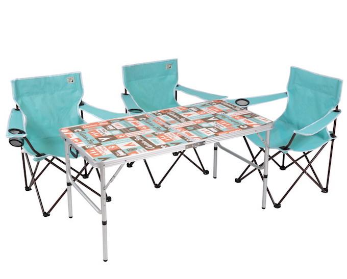 UC-531 レジャーロード アルミフォーウェイテーブル(アジャスター付)(M)120×60cm テーブル&チェア