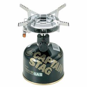 キャプテンスタッグ オーリック小型ガスバーナーコンロ(圧電点火装置付)M-7900