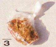 ビニール袋に入れた豚バラ肉の画像