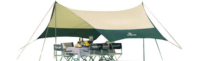 紫外線や雨をしのぐ便利なタープ