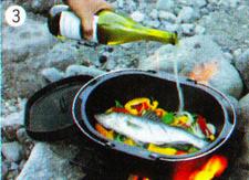 スズキのワイン蒸し 作り方3