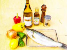ダッチオーブンレシピ スズキのワイン蒸し 材料