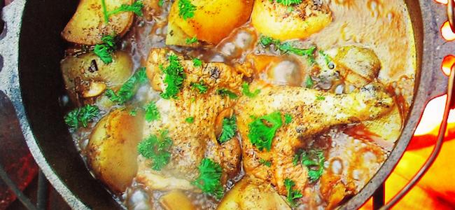 ダッチオーブンレシピ チキンの黒ビール煮