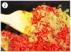 ダッチオーブンレシピ チリビーンズ 作り方2