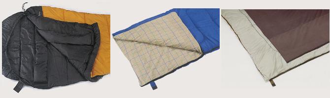 寝袋(シュラフ)の選び方 寝心地、肌ざわりを考える