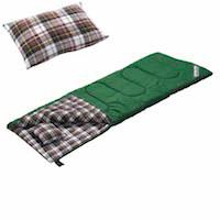 キャプテンスタッグ寝袋(シュラフ)M-3471 グランデ封筒型シュラフ(寝袋)1400(ピロー付)GR