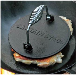 キャプテンスタッグ UG-3243 BBQグリルミートプレス 2