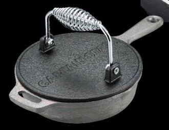 キャプテンスタッグ UG-3243 BBQグリルミートプレス 16cmスキレットの蓋として使用可能