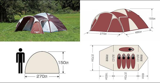 テントを選ぶときの大切なポイント 1. テントの大きさ