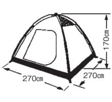 フレームサイズ M-3102 プレーナドームテント(5~6人用)(キャリーバッグ付)