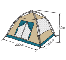 フレームサイズ M-3105 クレセント3人用ドームテント