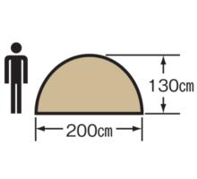 天井高 M-3105 クレセント3人用ドームテント