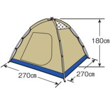 フレームサイズ M-3106 レニアスドームテント(5~6人用)(キャリーバッグ付)