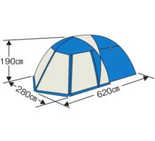 フレームサイズ M-3117 オルディナスクリーンツールームドームテント(5~6人用)(キャリーバッグ付)
