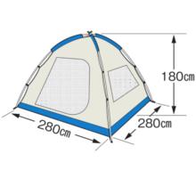 フレームサイズ M-3118 オルディナスクリーンドームテント(6人用)(キャリーバッグ付)