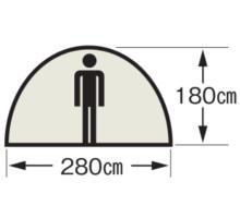 天井高 M-3118 オルディナスクリーンドームテント(6人用)(キャリーバッグ付)