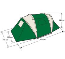フレームサイズ UA-15 CS 3ルームドームテントUV(4人用)(キャリーバッグ付き)