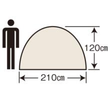 天井高 UA-2 エクスギア アルミツーリングドーム2UV(キャリーバッグ付)