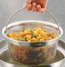 野菜・麺類の水切りに